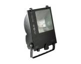 Projecteur IP65 iodure 400W asymétrique noir + lampe • TES400-projecteurs-en-saillie