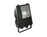 Projecteur IP65 iodure 400W symétrique noir + lampe • TES400-projecteurs-en-saillie