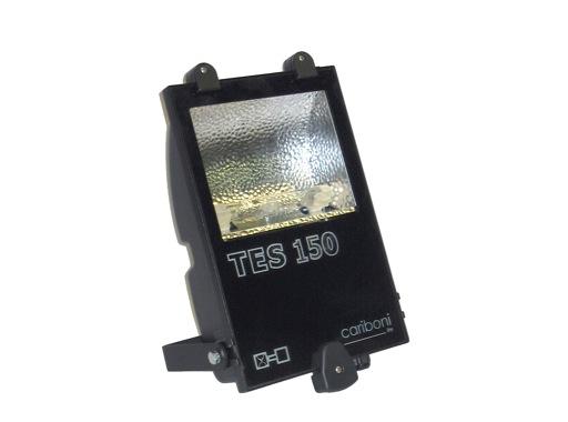 TES150 • Projecteur iodure 150W asymétrique noir IP65 + lampe