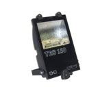 Projecteur IP65 iodure 150W asymétrique noir + lampe • TES150-projecteurs-en-saillie
