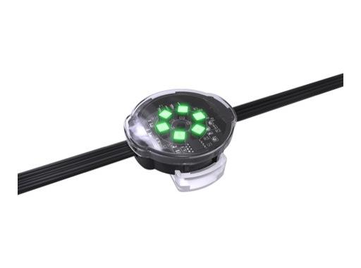 ENTTEC • Pixel Dots plat clair rond 40mm 50 LEDs RGB pitch 125mm 24V IP67 noir