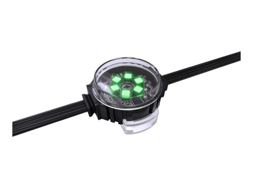 ENTTEC • Pixel Dots plat clair rond 35mm 50 LEDs RGB pitch 125mm 24V IP67 noir