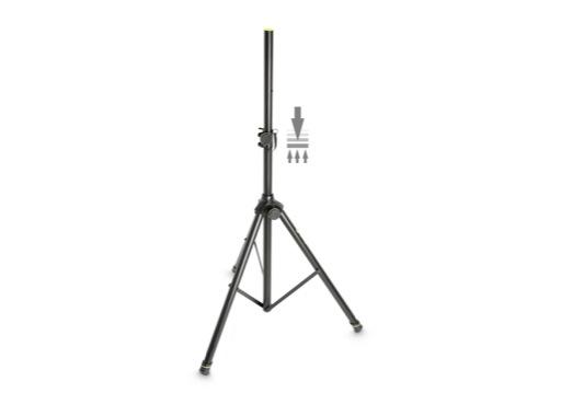 GRAVITY • Pied d'enceinte pneumatique 50 kg, ø 35 mm, hauteur de 1060 à 1920 mm