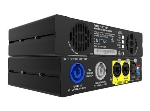 ENTTEC • PIXEL PORT PR1 alimentation Ethernet pour LEDs matricées 24 V 65 W
