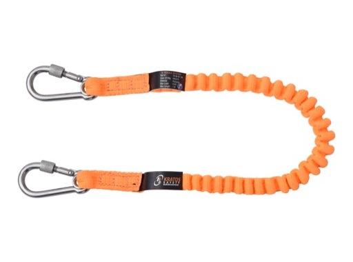 KRATOS • Longe élastique pour connexion outils avec connecteurs intégrés