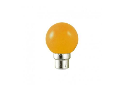 LED sphérique guirlande orange 0,8W 230V B22d