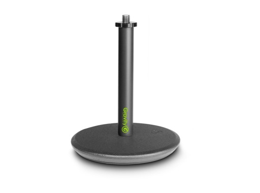 GRAVITY • Pied de table noir embase circulaire 130 mm, hauteur 200 mm