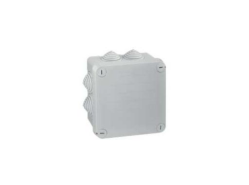 LEGRAND • Boite PLEXO carrée grise 105x105x55 7 embouts