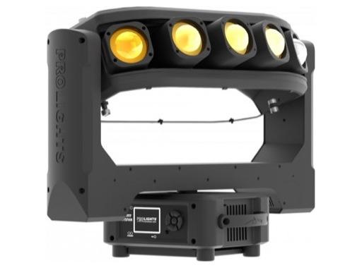PROLIGHTS • Lyre asservie à effets AIR5FAN 5 LEDs RGBW 40 W matricées 2°