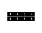 ESL • Etiquettes numérotées de 01 à 08 pour boîtier de scène NSBA1B, NSBA1C-boitiers-de-scene