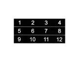 ESL • Etiquettes numérotées de 01 à 12 pour boîtier de scène NSBA1A-boitiers-de-scene