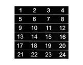 ESL • Etiquettes numérotées de 01 à 24 pour boîtier de scène NSBA2A, NSBA3B - 3C-cablage
