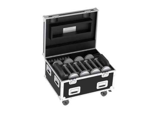 PROLIGHTS • Flight case pour 16 TABLED + 16 extensions + 4 chargeurs quadruples