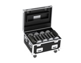 PROLIGHTS • Flight case pour 16 TABLED + 16 extensions + 4 chargeurs quadruples