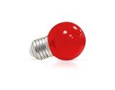 LED sphérique guirlande rouge 1W 230V E27-lampes