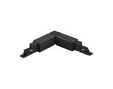 Global Trac Pro coupleur en L extérieur noir pour rail 3 allumages + DATA-alimentations-et-accessoires