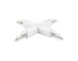 Global Trac coupleur en X blanc pour rail 3 allumages + DATA-alimentations-et-accessoires