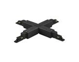 Global Trac coupleur en X noir pour rail 3 allumages + DATA-alimentations-et-accessoires