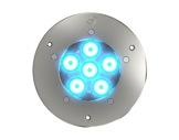 Projecteur EOS 6 FC encastré 6 LEDs Full RGBW 22° IP65 gris anthracite • DTS-encastres-de-sol-et-appliques-murales