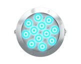 Projecteur immergeable DIVE 12 en saillie 12 LEDs Full RGBW 27° IP68 • DTS-projecteurs-immergeables