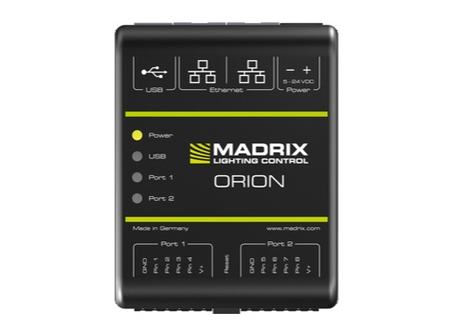 MADRIX • Boîtier d'interfaçage analogique / Ethernet ORION