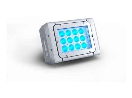 DTS • Projecteur MINI BRICK ARC Full RGBW 12 x 20 W IP65 8 ° (sans alim) blanc