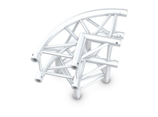 Structure quatro angle 90° courbe 3 directions - M290 QUICKTRUSS