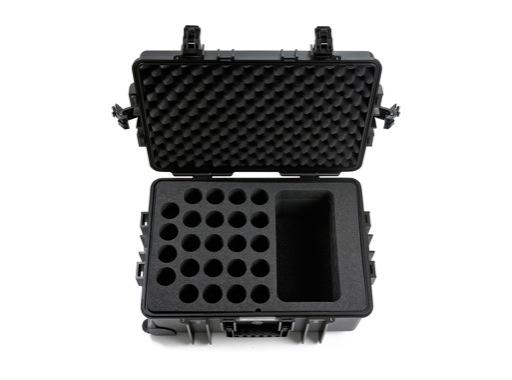 OC • Valise étanche avec mousse pour 24 micros 535 x 360 x 225 int + trolley