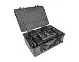 PROLIGHTS • Valise ABS de 4 batteries + chargeur pour projecteurs ECLFRESNEL JR
