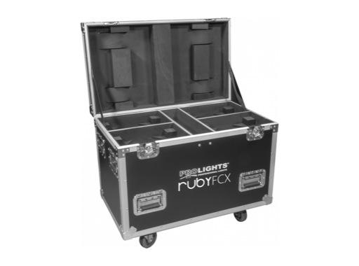 PROLIGHTS • Flight case pour 4 projecteurs RUBYFCX