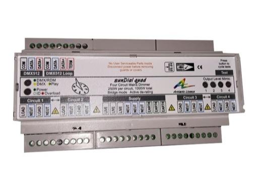 ARTISTIC LICENCE • Gradateur spécial LED SUNDIAL QUAD DMX 4 x 250 W + Bluetooth