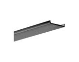 ESL • Diffuseur opaline noir 2.00m pour gamme Double alu-profiles-et-diffuseurs-led-strip