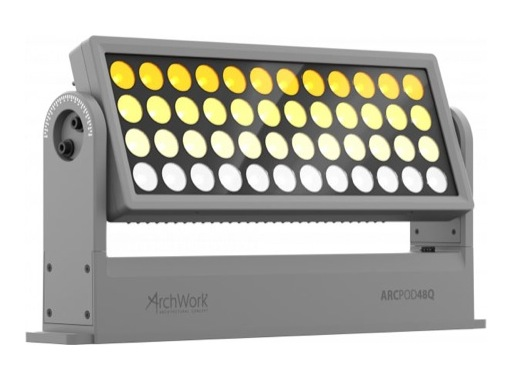 ARCHWORK • Dalle à LEDs ARCPOD48Q 48 x 10 W Full RGBW IP66