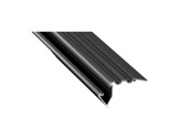 ESL • Nez de marche alu anodisé noir pour Led 1.00m (Eclairage direct et/ou ind)-profiles-et-diffuseurs-led-strip