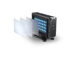 Projecteur X BRICK Full RGBW 32 x 20 W IP65 8° + filtres holographiques • DTS-projecteurs-en-saillie