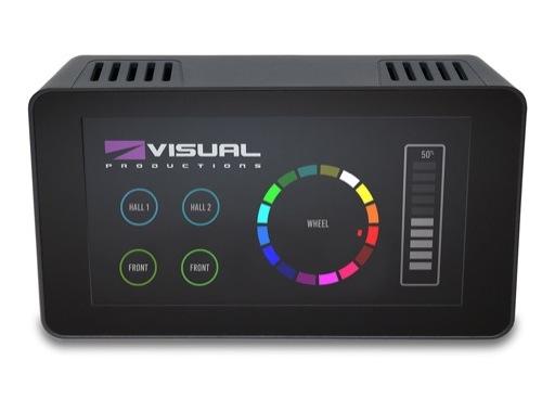 VISUAL PRODUCTIONS • Contrôleur mural KIOSC TOUCH avec écran tactile 7''