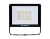 Projecteur noir Flood Light Slim Led 50W blanc chaud 4500lm IP65-projecteurs-en-saillie
