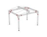 QUICKTRUSS • ROOF MR0 6,00 x 5,00 x 5,00m avec bâche de toit gris argenté-quatro