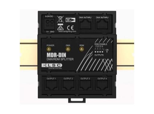 LSC • Splitter MDR-DIN 4 sorties DMX RDM sur embases RJ45 rail DIN