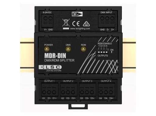 LSC • Splitter MDR-DIN 4 sorties DMX RDM sur borniers à vis rail DIN