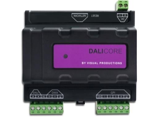 VISUAL PRODUCTIONS • DaliCore Contrôleur hybride DALI / DMX sur rail DIN