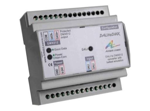 ARTISTIC LICENCE • DALItoDMX convertisseur DALI vers DMX format rail DIN