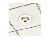 PROLIGHTS • Collerette blanche pour kit d'encastrement plafond gamme EclDisplay