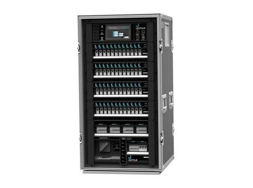 LSC • Flight case modulaire UNITOUR spécial tournée pour gradation et puissance
