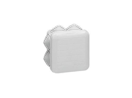 LEGRAND • Boite PLEXO carrée grise 65x65x40 7 embouts