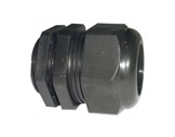 PRESSE ETOUPE • PG11 plastique noir+écrou Ø perçage 19mm-cablage