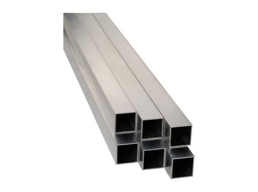 ALUMINIUM • Barre carrée 3 mètres 40 X 40 mm ép. 2 mm
