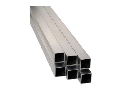 Barre aluminium carrée 2 mètres 50 x 50 mm épaisseur 2 mm