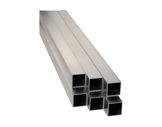 Barre aluminium carrée 2 mètres 50 x 50 mm épaisseur 2 mm-monotube