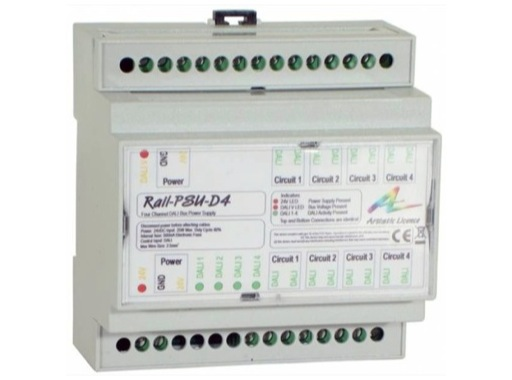 ARTISTIC LICENCE • Alimentation de Bus DALI pour 4 Circuits DALI